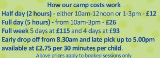 The costs associated with our holiday camps